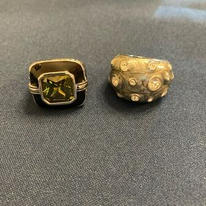 2 for $35 GUC Set of two Lia Sophia rings, size 9